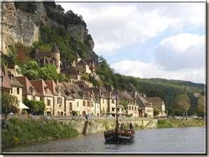 Gabarre en Dordogne